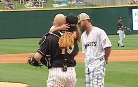 WATCH: Navy Dad Shocks Daughter During BaseballGame