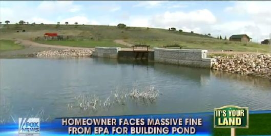screenshot epa fines couple 75000 per day for building pond in wyoming