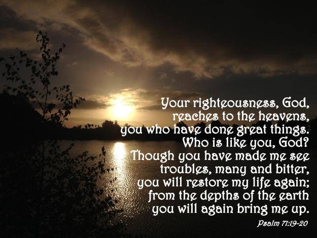 Psalm 71:19-20