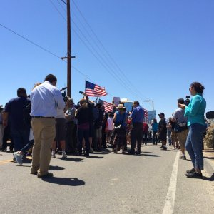 Immigration / Protesters Block Buses