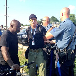 Getty Images photographer arrested 'outside the designated media zone' in Ferguson,Mo.