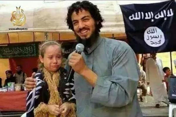 ISIS militant announces his marriage to terrified 7-year old in occupied city inSyria