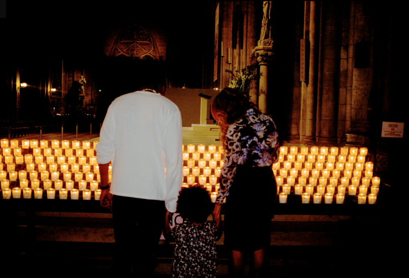 Carters In Paris! Beyonce, Jay Z, & Blue Ivy Hit Up A Gorgeous Church While Chillin' In The City Of Light(PHOTOS)